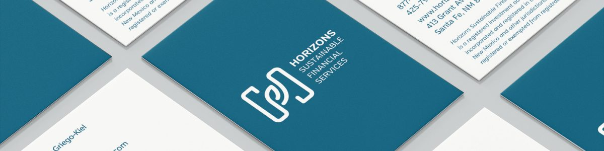 Horizons Sustainable Financial Services, specializes in Sustainable, Responsible, Impact (SRI) Investing—we created their brand to match.