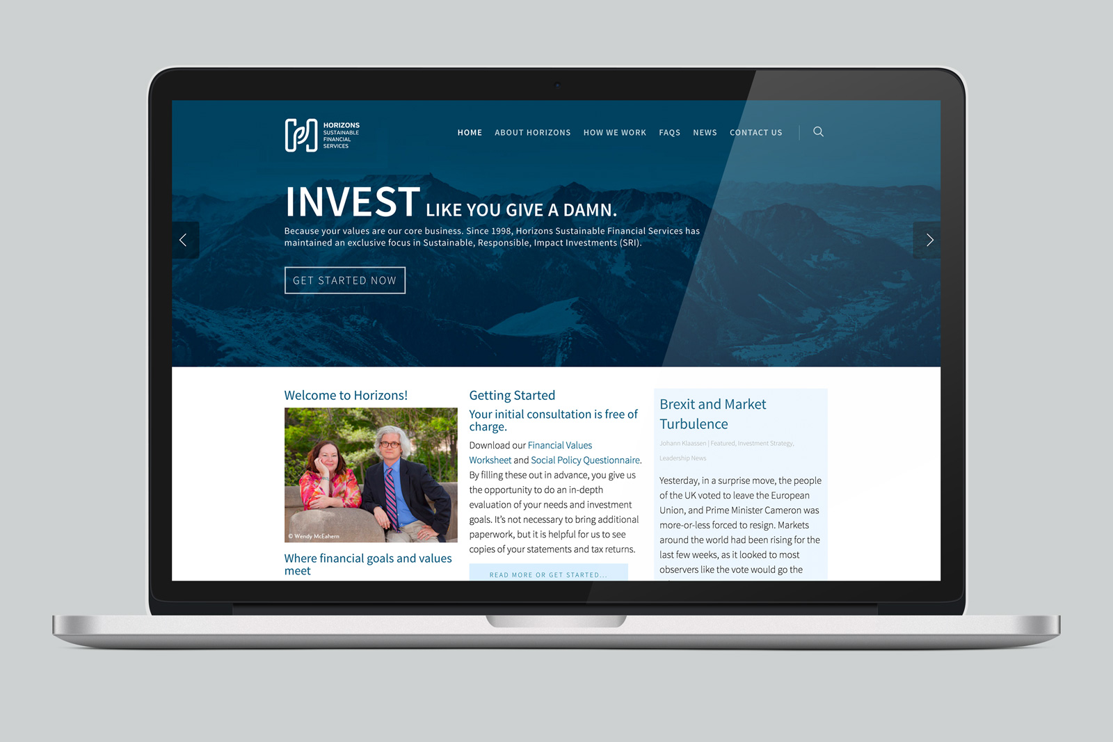 Horizons Sustainable Financial Services Website