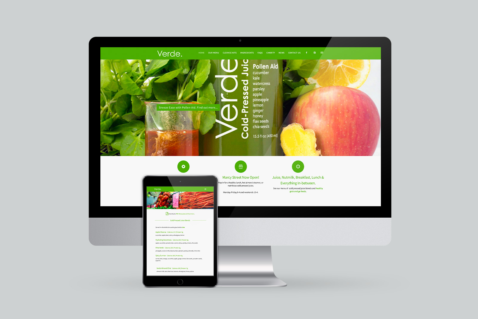 Verde Juice Website
