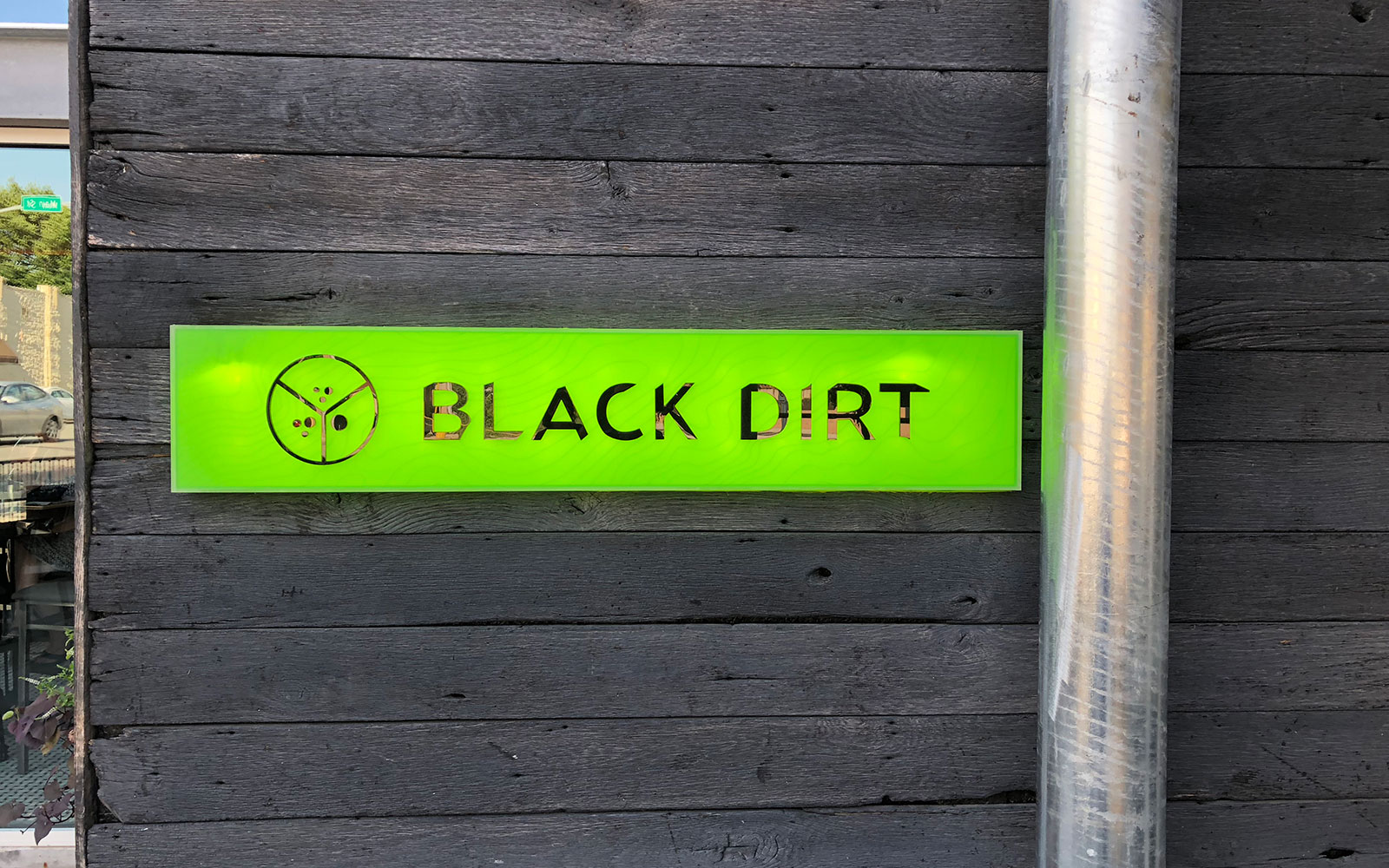 Black Dirt Front Sign